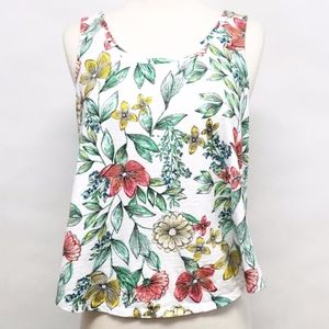 🌈 a new day | tropical floral sleeveless top sz M